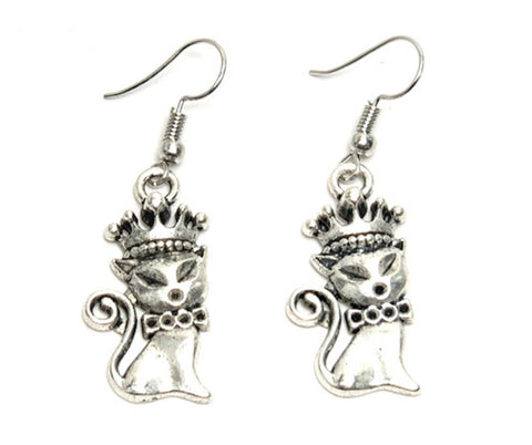 Arras Creations Fashion Trendy Pet Lover/Cat Dangle Fish Hook Earring for Women / AZAEAL204-ASL