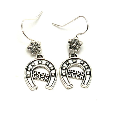 WESTERN Fashion Horse Shoe Good Luck Dangle Earring for Women / AZAESW002-ASL
