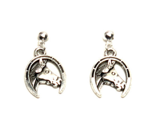 WESTERN Fashion Horse Shoe Horse Dangle Earring for Women / AZAESW202-ASL