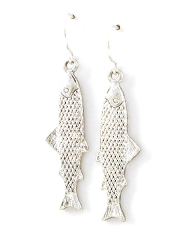 Sea Life - Fish Dangle Fish Hook Earring Set / AZERSEA906-ASL
