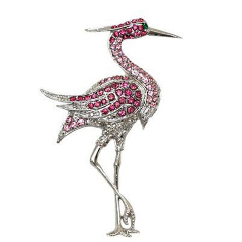 Flamingo Pin Brooch / AZFJBR426-SPI