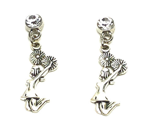 Sports Fashion Trendy Cheer Leading Charm Metal Dangling Earrings For Women's or Girls / AZAESPD01-ASC