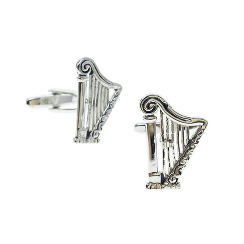 Musical Instrument Harp French Shirts Music Harp Cufflinks Cuff lings Cuff Buttons Cuff Link For Men's and Women's / AZCFMU018-ASL