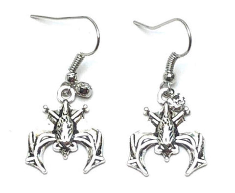 Fashion Halloween Bat Dangle Fish Hook Earrings For Women / AZAEHA601-ASL