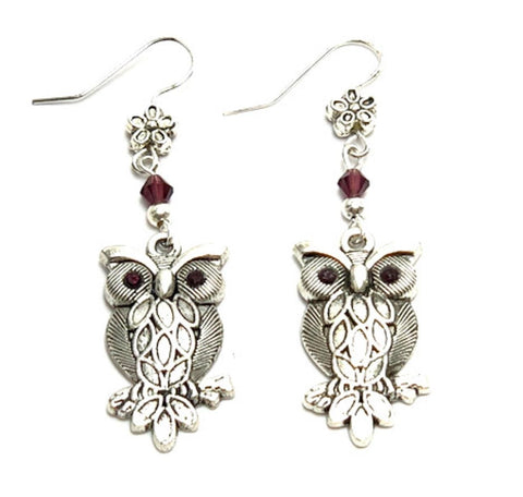 Halloween Trendy Fashion Owl Dangle Earrings for Women / AZAEHA110-ASP