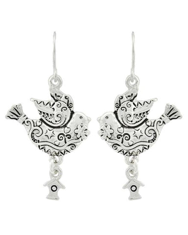 Sea Life - Bird Dangle / Fish Hook Earring Set / AZERSEA500-ASL