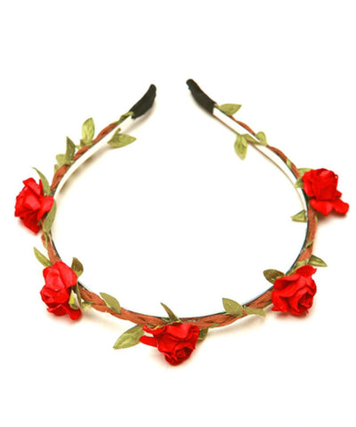 Braided Cord Leaves and Flower HeadBand For Women
