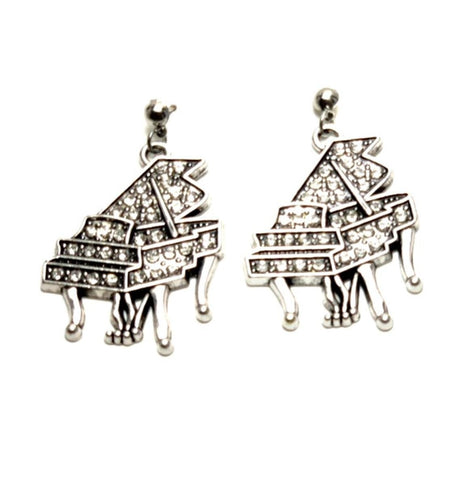 Fashion Trendy Music Piano Drop Dangle Post Earrings Jewelry For Women / AZAEDM002-ASC