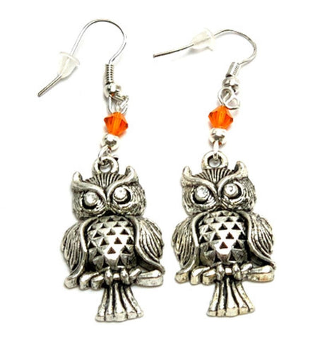 Halloween Trendy Fashion Owl Dangle Earrings for Women / AZAEHA109-ASO