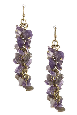 Stone Cluster Earrings / AZERFH278-GPU