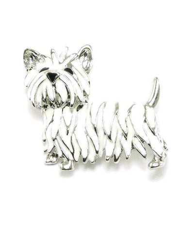 Arras Creations Enamel Dog Brooch / AZFJBR105-SWH