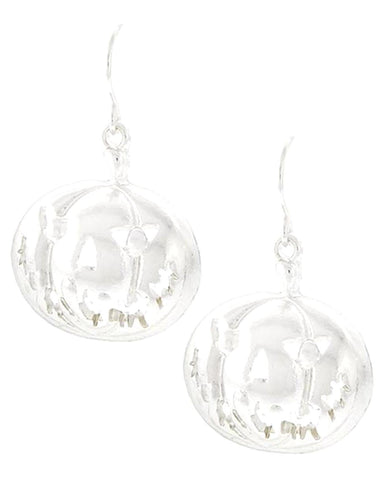 Fashion Halloween Pumpkin Dangle Fish Hook Earrings For Women / AZERHE219-BSL