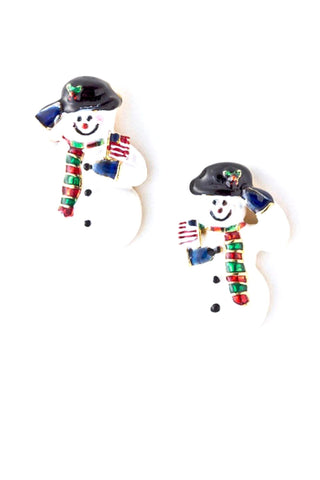 Snowman Earrings / AZERFH135-GMU-CHR