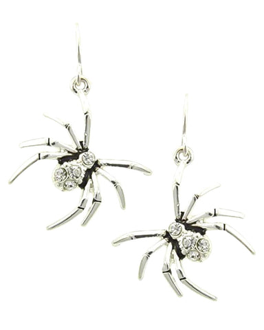 Fashion Halloween Spider Dangle Fish Hook Earrings For Women / AZERHE502-ASC
