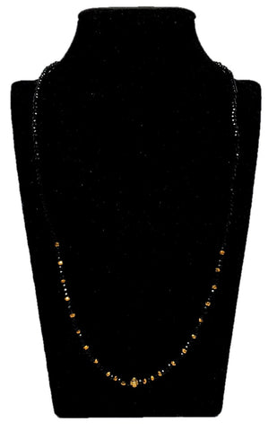 Arras Creations Designer Imitation Traditional Crystal Mangalsutra Necklace for Women / AZMNVM011-GLD