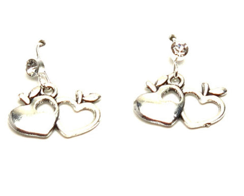 Fashion Trendy Valentine Apple Cupid Hearts Love Dangle Earrings For Women / AZAEVH101-ASC