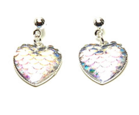 Fashion Trendy Valentine Heart Romantic Sequins Dangle Earrings For Women