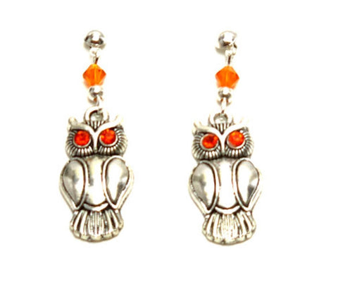 Halloween Trendy Fashion Owl Dangle Earrings for Women / AZAEHA106-ASO