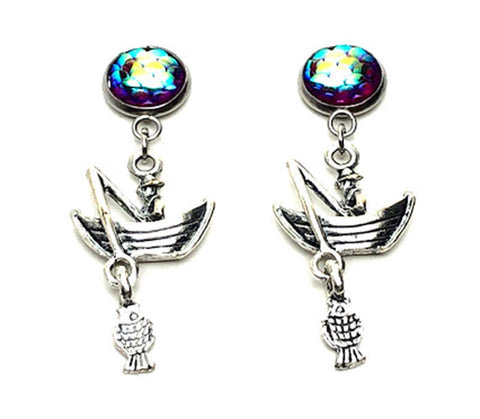 SPORTS Earring : Fashion Fishing Dangle Earrings For Women / AZAESPG01-ASP