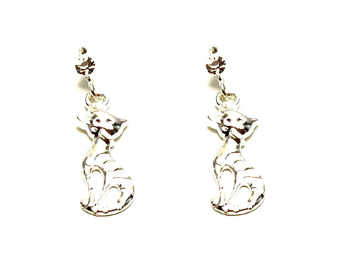 Arras Creations Fashion Trendy Pet Lover/Cat Dangle Fish Hook Earring for Women / AZAEAL201-ASL