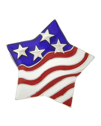 Independence Day / American Flag / Star Brooch - Brooch/pin / AZFJBR137-SRB-PAT