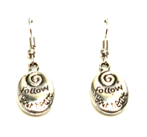 "Fashion Trendy Valentine Message""Follow Your Heart"" Earrings For Women"