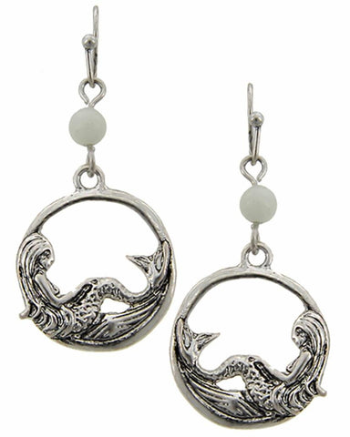 SEA LIFE Mermaid Dangles Fish Hook Earring Set For Women / AZERSEA261-ASL