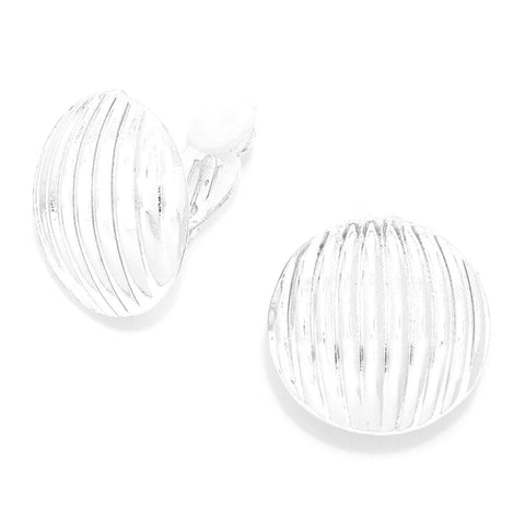 SEA LIFE : Fashion Trendy Fashion Round Metal Shell ClipOn Earrings For Women