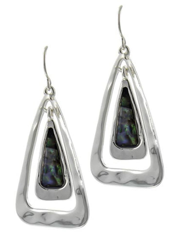 Multi Color Abalone Drop Earrings / AZERAB267-SMU