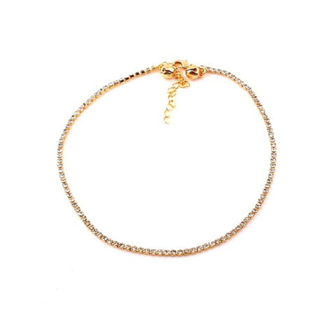 Fashion Clear Stone Anklet For Women