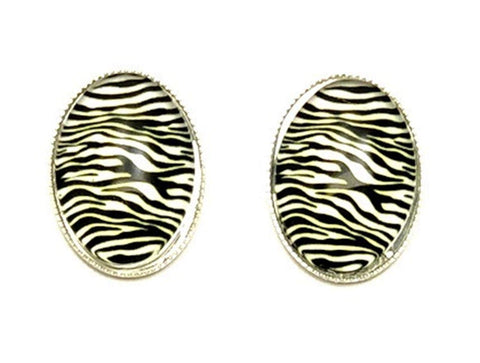 Trendy Fashion Cameo Cabochon Button Post Earrings for Women / AZEACPS01-SZE