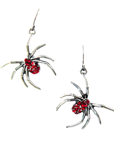 Fashion Halloween Spider Dangle Fish Hook Earrings For Women / AZERHE966-HBR