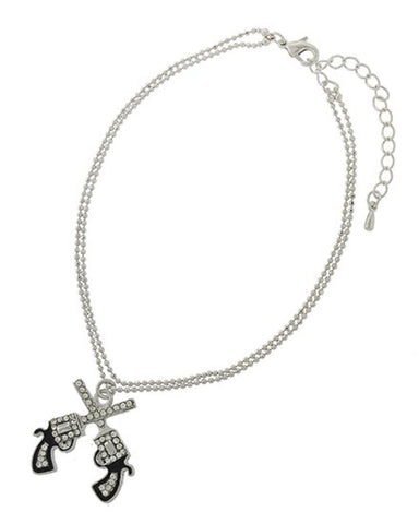 fashion-trendy-western-theme-gun-charm-anklet-for-women-azanpi022-scl