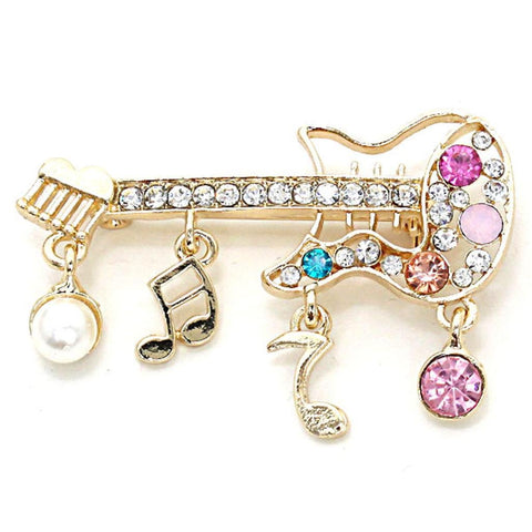 Crystal Guitar Pin Brooch/Brooches