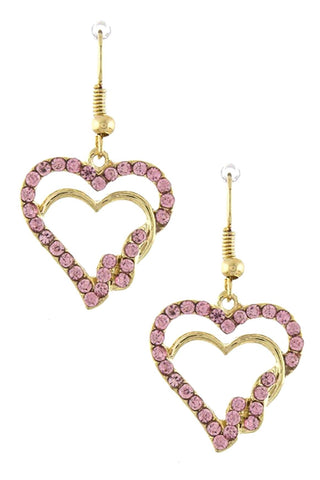 Interlocked Heart Ornate Earrings for Women