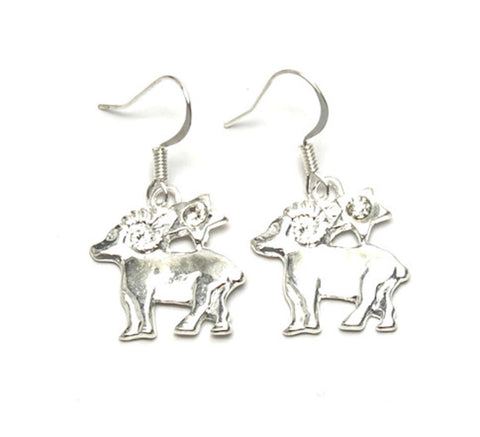 Fashion Trendy Capricorn - Zodiac Sign Dangle Earrings For Women / AZAZCP001-SCL