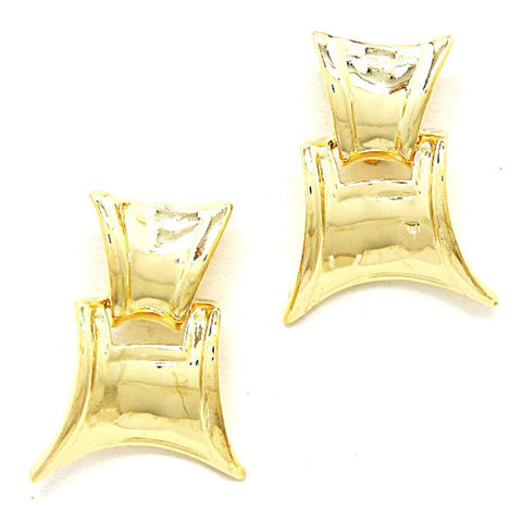 Angular Manta Clip-On Earrings / AZERCO365-GLD