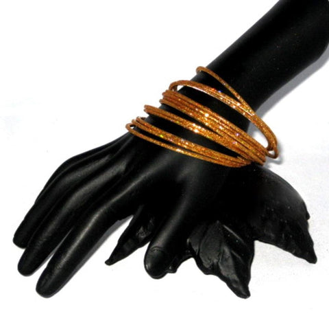 Fashion Trendy Gold Tone Metal Bangles Bracelets for Women