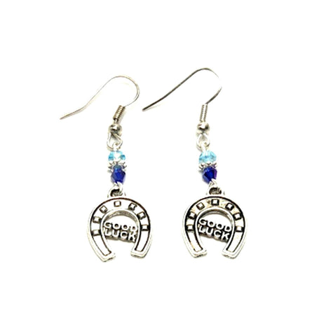 WESTERN Fashion Horse Shoe Good Luck Dangle Earring for Women / AZAESW003-ASL