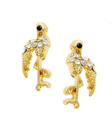 SEA LIFE Flamingo Button Post Earring / AZERSEA251-GCL