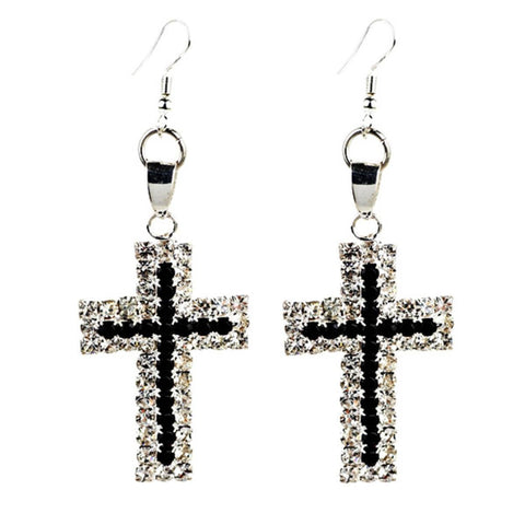 Christian Fashion Cross Dangle Womens Earrings