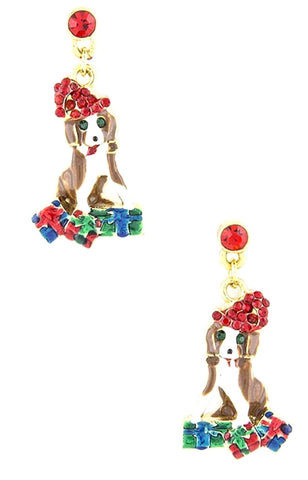 Christmas Puppy Love Earrings / AZERFH140-GMU-CHR