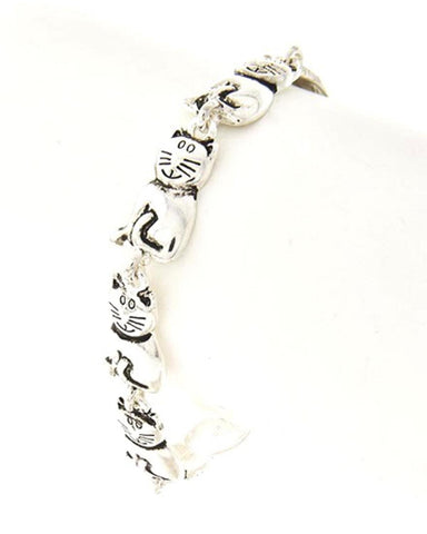 Metal Cat Lover Theme MAGNETIC CLOSURE BRACELET / AZBRCB005-ASL