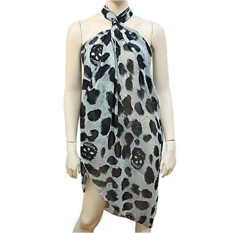 Animal Print Polyester Winter Scarf