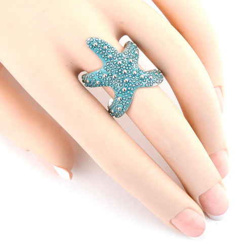 SEALIFE Resin Starfish Cuff Ring / AZRISEA911-STU