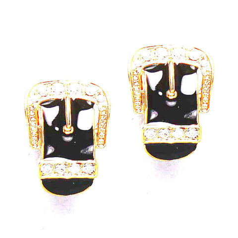 Belt Design Clip on Earrings / AZERCO138-GBC