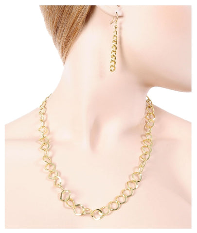 Fashion Gold Chain Necklace - Gold