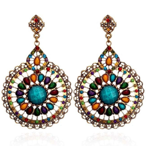 Fashion personality Hollow circular Pendant Earrings / AZERFH221-MUL