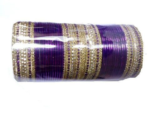 Bollywood style Indian designer metal bangle set