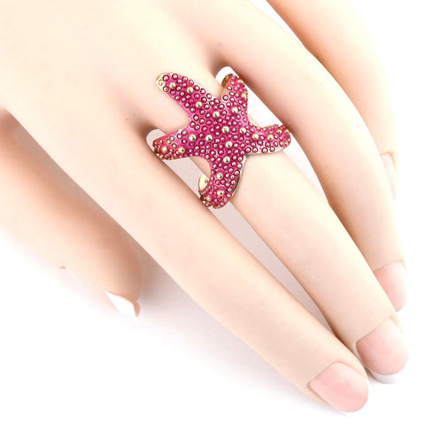 SEALIFE Resin Starfish Cuff Ring / AZRISEA910-GFU